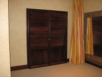 Stained French Door Shutters