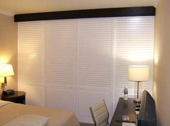 Painted Sliding Shutters - Interior