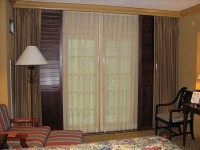 Sliding Stained Shutters - Open