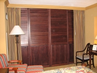Sliding Stained Shutters - Closed